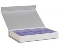 Коробка «Блеск» для ежедневника, серебристая