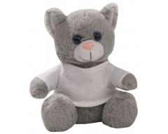 Игрушка «Кот Кыся в футболке», серый