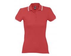 Рубашка поло женская Practice women 270 красная с белым