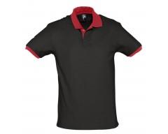Рубашка поло Prince 190 черная с красным