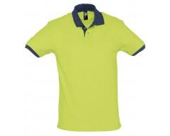 Рубашка поло Prince 190 зеленое яблоко с темно-синим