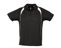 Спортивная рубашка поло Palladium 140 черная с белым