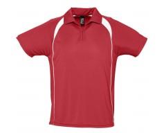 Спортивная рубашка поло Palladium 140 красная с белым