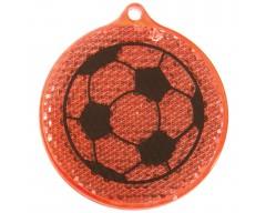 Светоотражатель «Футбол», красный