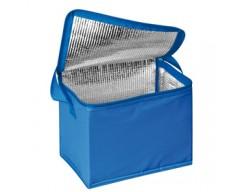Сумка-холодильник, синяя, на 6 банок по 0,5