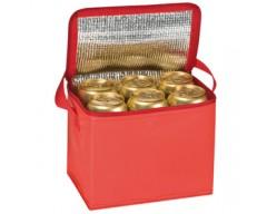 Сумка-холодильник, красная, на 6 банок по 0,5