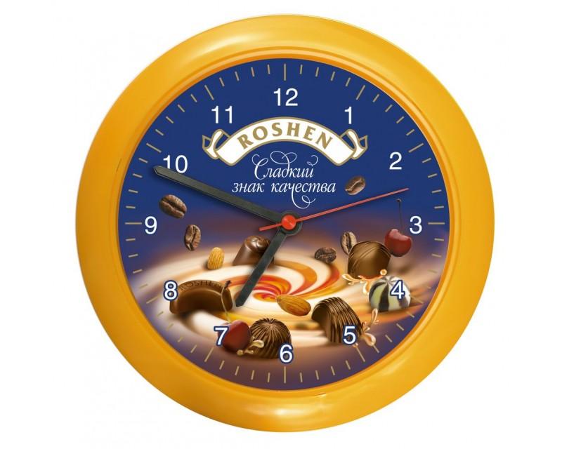 Часы настенные, оранжевые