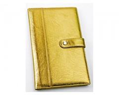 Портмоне дорожное с отделениями для паспорта, авиабилетов и кредитных карт цвет: золотой