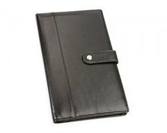 Портмоне дорожное с отделениями для паспорта, авиабилетов и кредитных карт цвет: черный