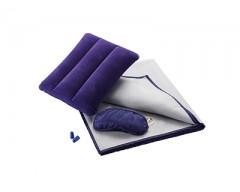 Набор для путешествий с комфортом: подушка под голову, беруши, повязка на глаза, плед