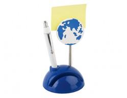 Подставка под визитки с ручкой и держателем для записок «Глобус»