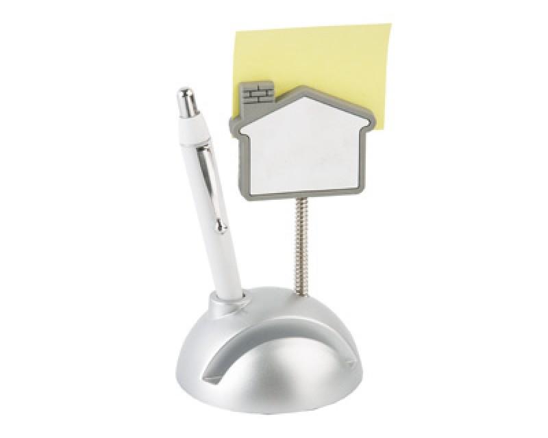 Подставка под визитки с ручкой и держателем для записок «Домик»