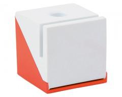 Подставка под ручку, визитки и скрепки оранжевая