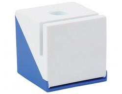 Подставка под ручку, визитки и скрепки синяя