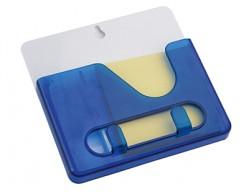 Подставка под ручки с бумажным блоком и крючками для ключей синяя