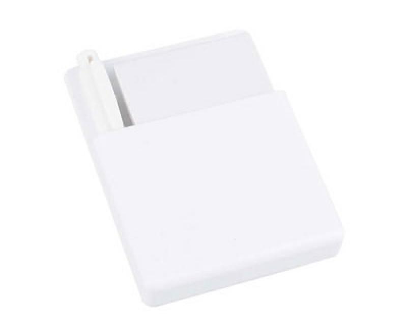 Подставка с бумажным блоком и ручкой белая