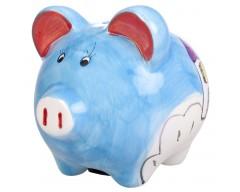 Копилка «Свинья», синяя