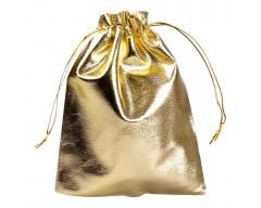 Мешочек подарочный из золотистой парчи, малый