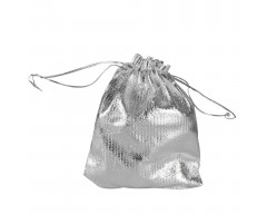 Мешочек подарочный из серебристой парчи, малый
